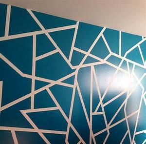 Geometric wall paint design color glidden ocean