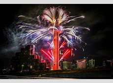 NYE Fireworks at Reunion Tower Reunion Tower