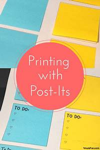 printing on post its yes you can smith curriculum and With how to print on post its
