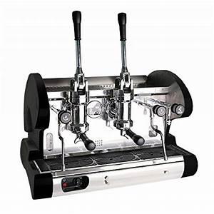 Commercial Pull Lever Espresso Machine  Black
