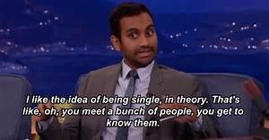 Aziz Ansari Being Single Meme