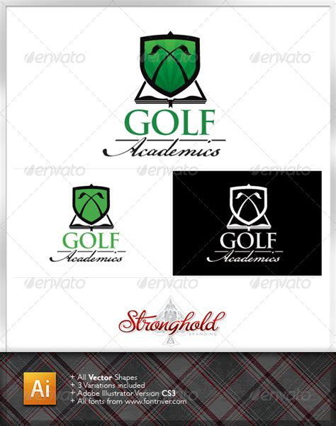 Transferring Preset Templates For Scribe America golf academy logo template graphicriver