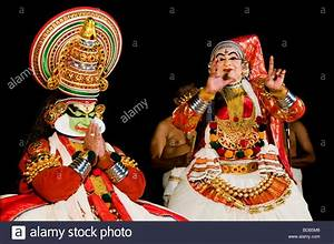 Stage performance - traditional Indian dance Kathakali ...