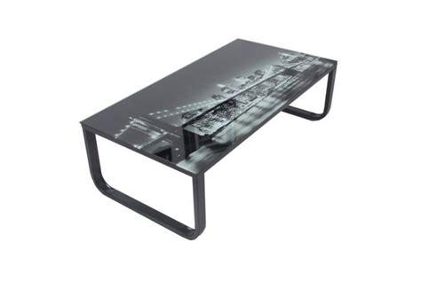 bureau informatique blanc table basse avec plateau verre eastriver design sur sofactory