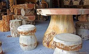 Tabouret Rondin De Bois : objets d coration jardin fabriqu en bois ~ Teatrodelosmanantiales.com Idées de Décoration