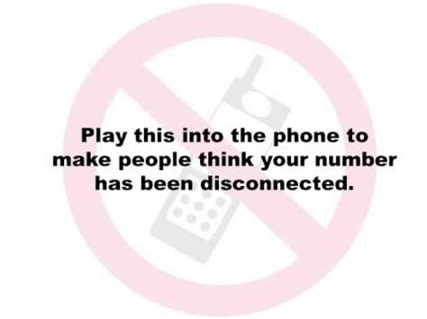 how to if your phone has been disconnected phone message stop telemarketers