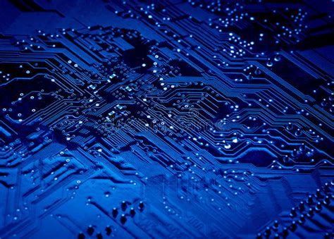 Blue Circuit Board Background Computer Stock Image