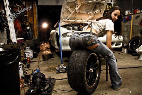 Frau In Garage by Shannon S By Mrxphotography2013 Deviantart