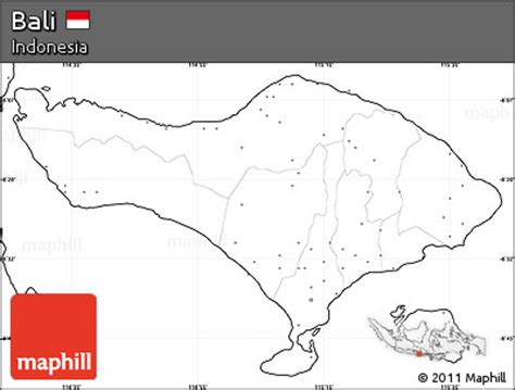 blank simple map  bali  labels