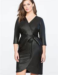 Plus Size Faux Leather Dresses