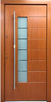 model  modern sipo finish exterior door wfrosted glass