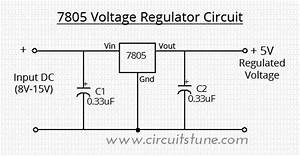 Voltage Regulator Circuit Using Lm7805