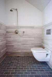 European bath open shower and wall mount toilet for Toilets in european bathroom
