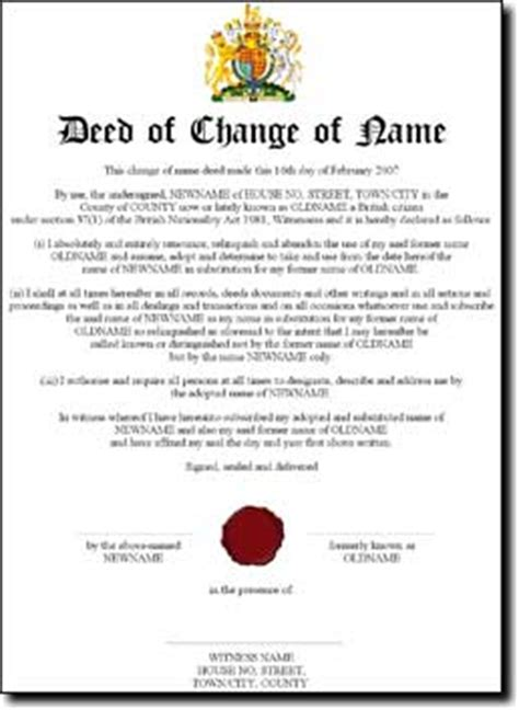 change of name deed poll template what s in a name law ad libitum