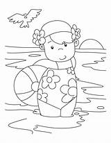 Coloring Swimming Pool sketch template
