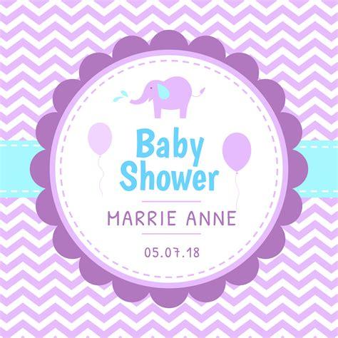 baby shower template vector   vectors