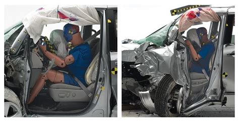 Minivans Crash Test by The Iihs And Minivan Crash Testing Misinformation