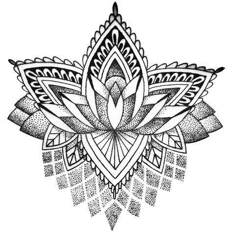 tattoo temporaire mandala lotus stylise