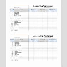 9+ Accounting Worksheet Templates  Sample Templates