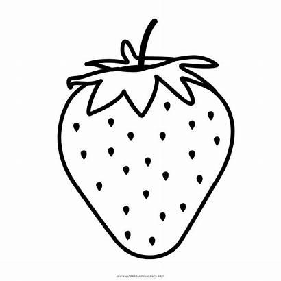 Strawberry Coloring Morango Colorir Desenho Fresas Colorear