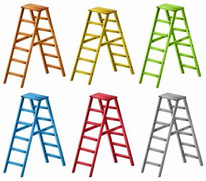 Ladders Different Colors Six Vector Ladder Wooden