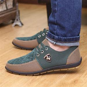 Mens casual Ferrari Flats Leather Shoes – Shop for Fashion ...