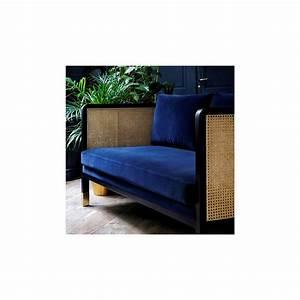 Canapé Bleu Marine : canap cannage velours bleu marine arne concept ~ Teatrodelosmanantiales.com Idées de Décoration