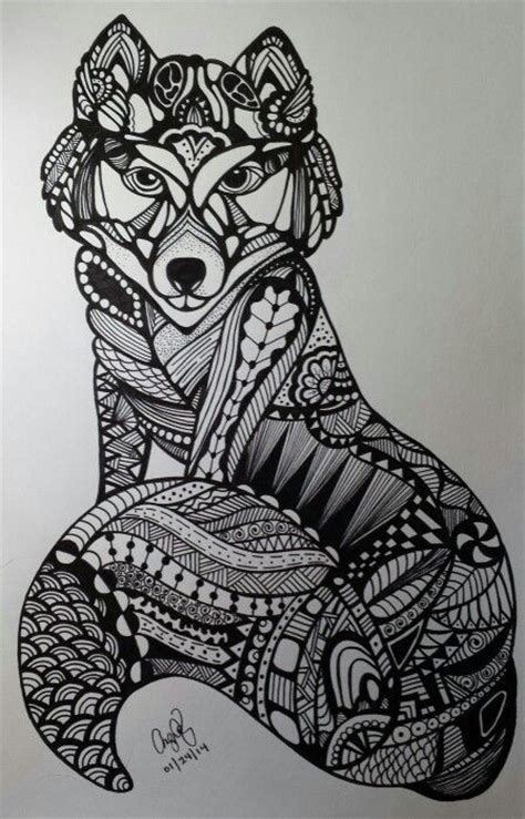 images  zentangle animals  pinterest