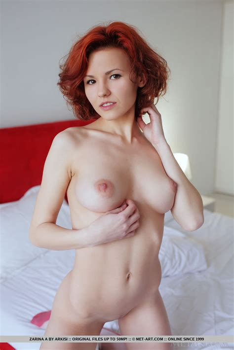Euro Teen Zarina A With Perky Nipples Stretches For Shaved