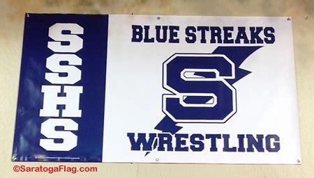 saratoga springs high school wrestling vinyl banner