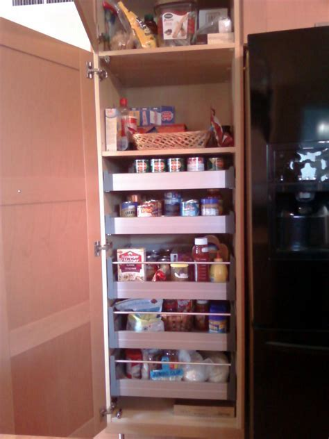 Walk In Corner Kitchen Pantry Cabinet With Folding Wooden