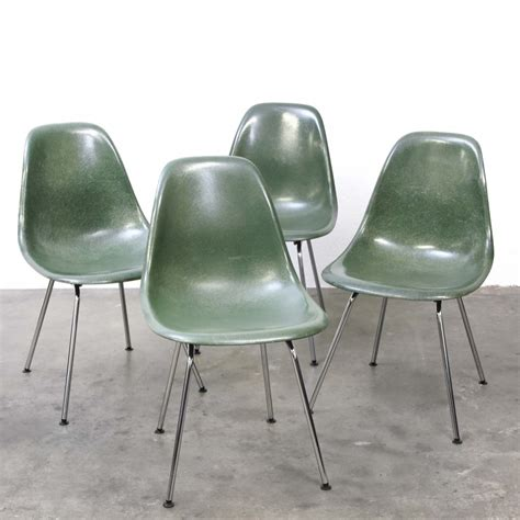 set of 4 dsx polyester sidechair dinner chairs by charles