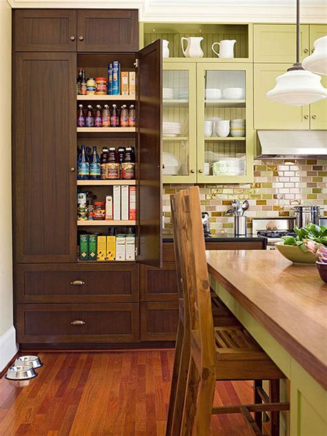 modern kitchen pantry  wooden cabinet