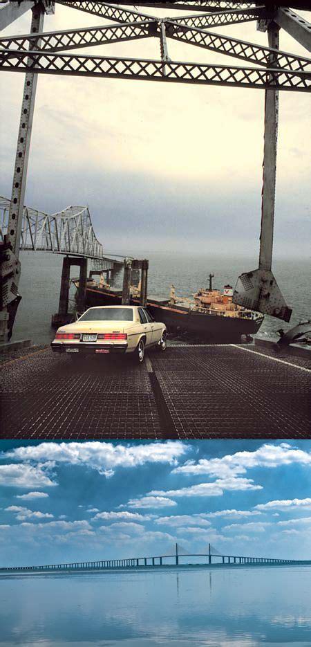 May The Sunshine Skyway Bridge Spanning Bay