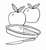 Pie Coloring Apple Pages Fruit Fresh Drawing Pumpkin Simple Template Printable Print Getcoloringpages Pies Action Sketch Visit Food Sheets sketch template