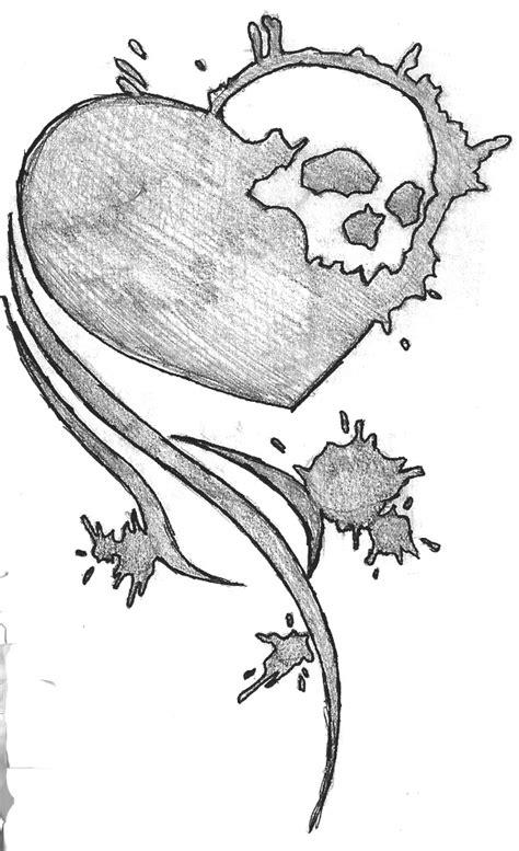 emo heart art drawing drawing skill