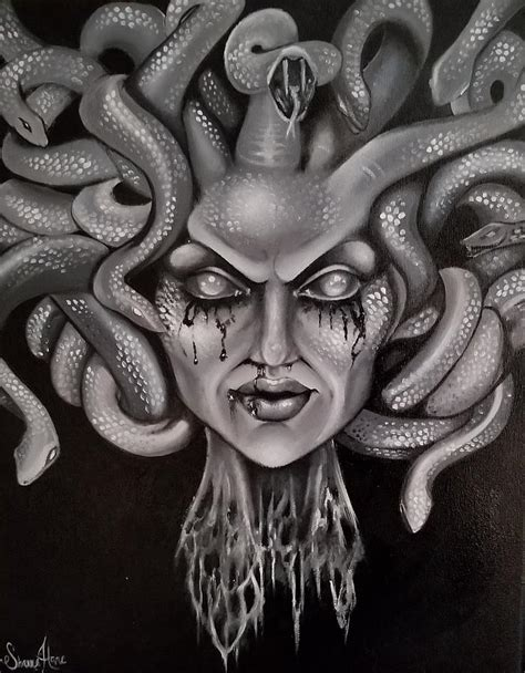 Medusa Painting by Shannon Hare