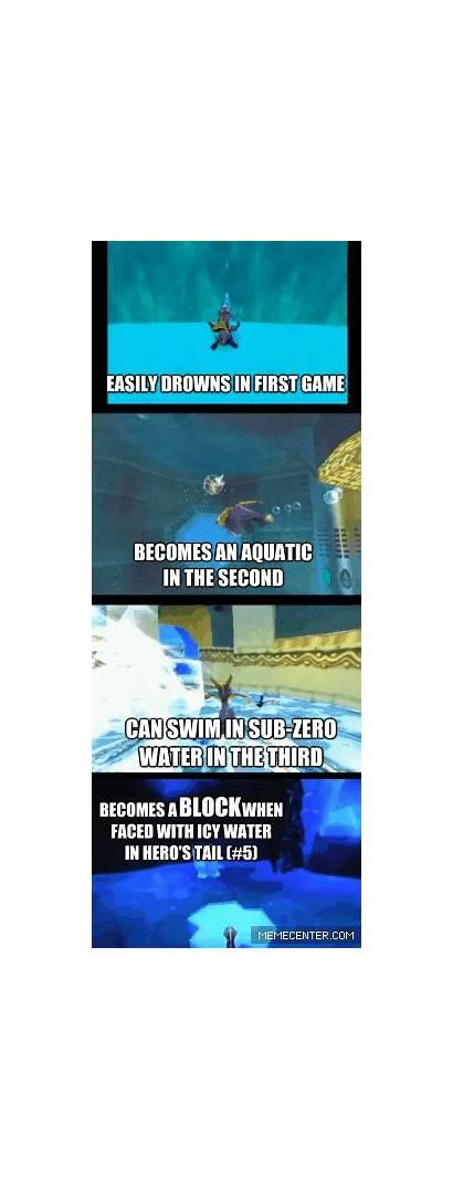 Logic Spyro Games Dragon Cynder Memes Swimming