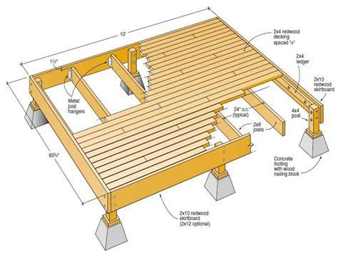 wood deck plans  deck plans blueprints deck plan treesranchcom