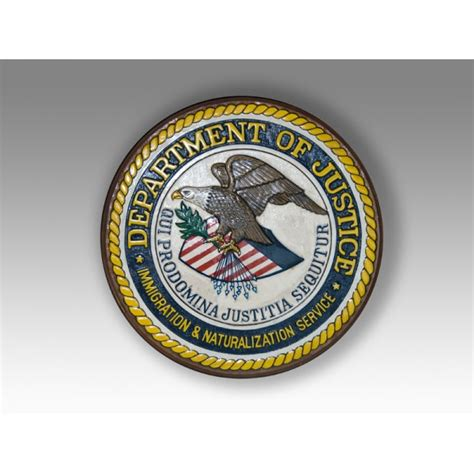 united states department of justice seal plaque plaques and seals