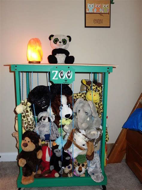 stuffed animal storage zoo organization table side organizing 30dayflip animals diy furniture toy room hometalk there painted think