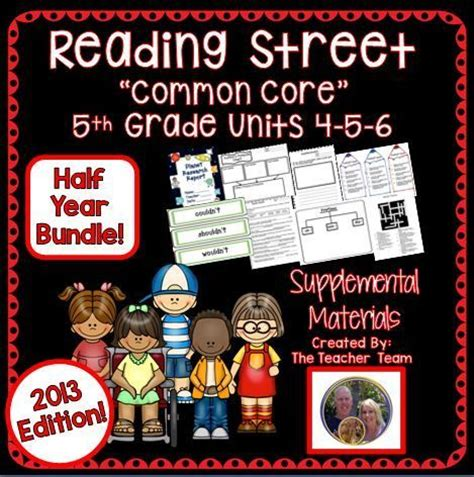 Reading Street 5th Grade Unit 456 Half Year Bundle 2013  Activities, The O'jays And 5th Grades