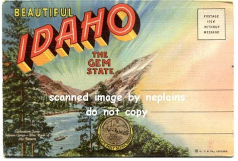 idaho  gem state  souvenir folder