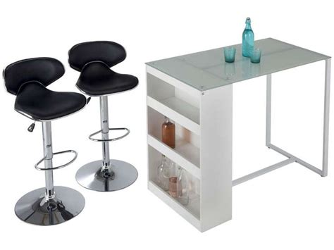table de bar lot de 2 tabourets tekila prix promo table conforama 330 00 ttc meubles pas