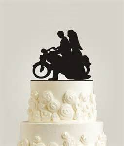 motorcycle wedding cake toppers motorcycle cake topper rustic cake topper wood cake