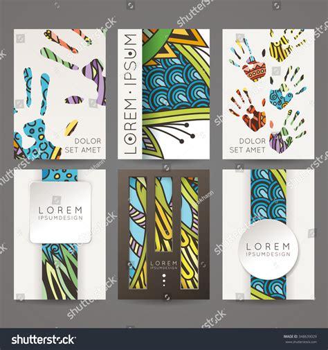 Colorful Brochure Templates by Set Vector Design Templates Brochures Random Stock Vector