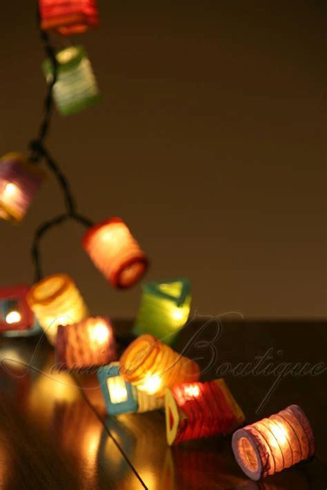 20 multicolour battery operated mini paper lantern