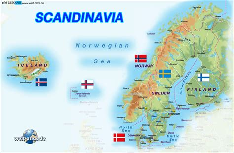 scandinavia map toursmapscom