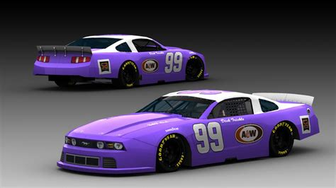 fictional  dick trickle mclm ford mustang stunod racing