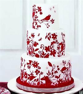 Red And White Wedding Cake Ideas (2) | Weddings Eve